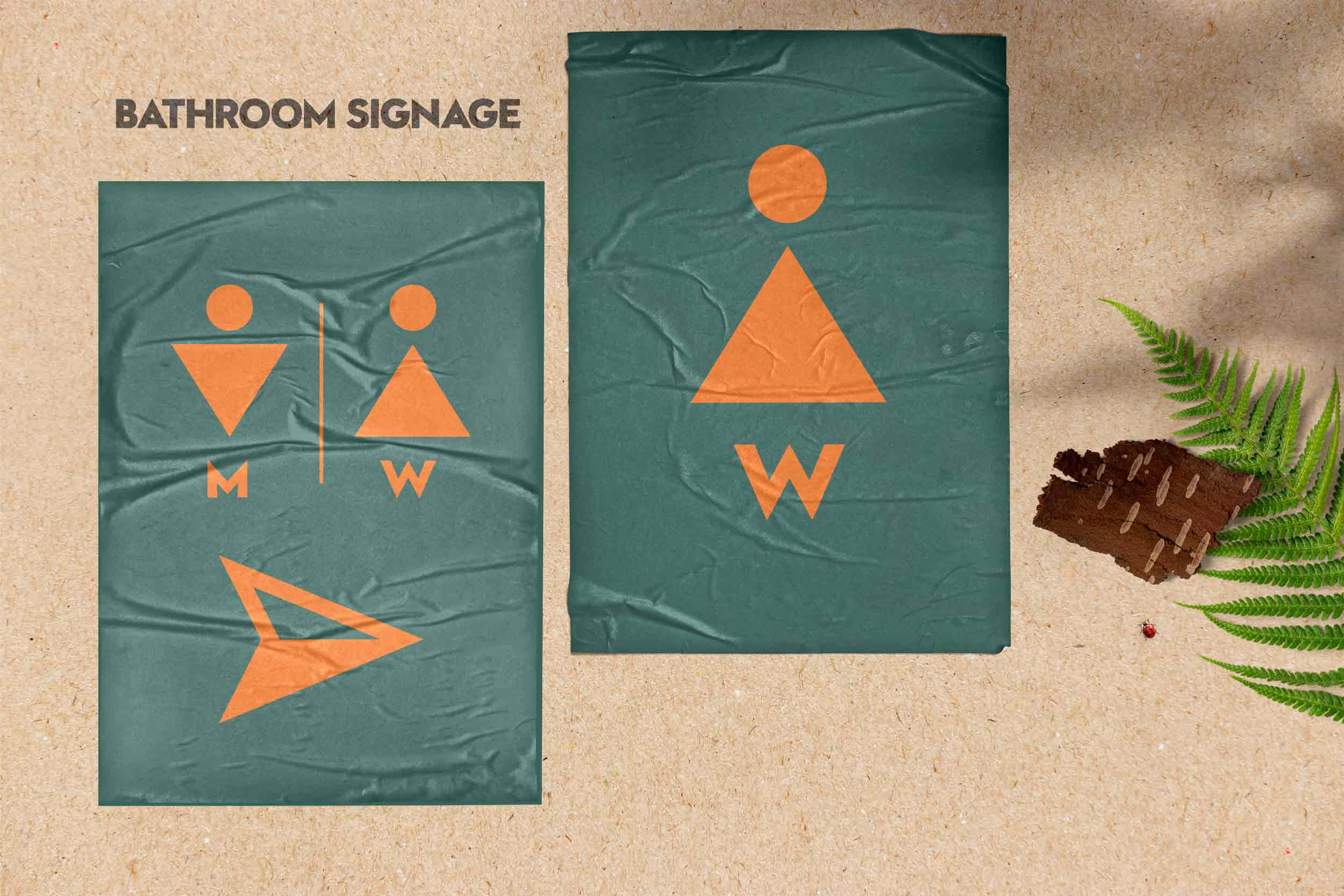 Bathroom Camp Poster Design