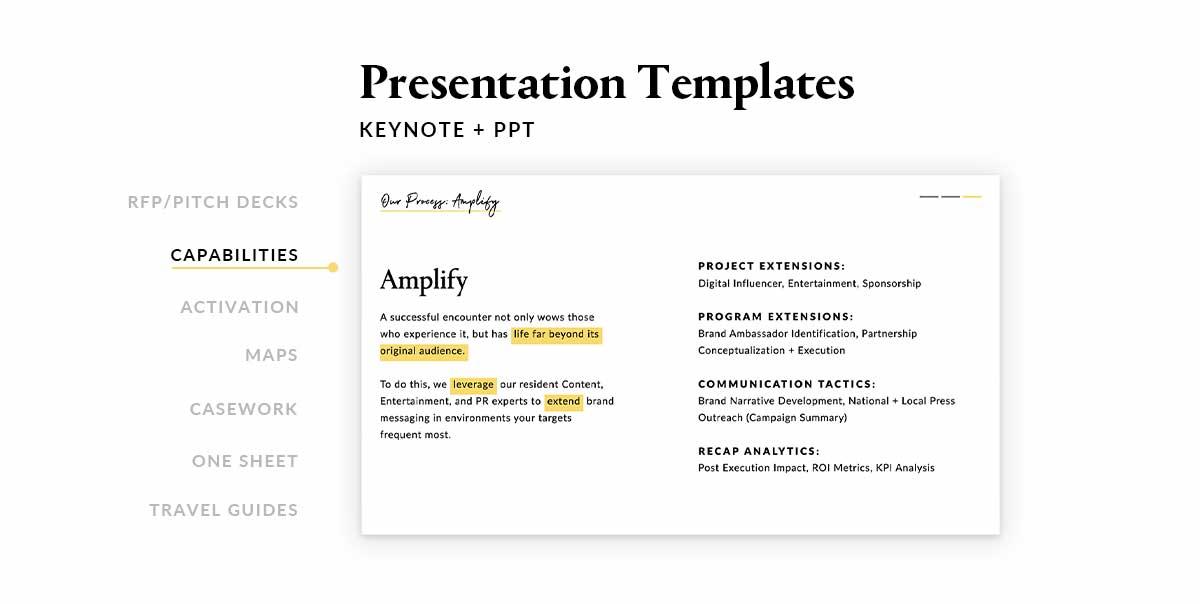 PPT Template Design